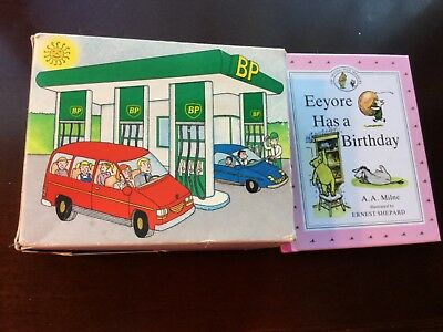 Winnie the Pooh Book Set 1990 BP Gas Station Promotion Set of 6+1 with BP BOX