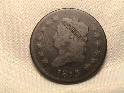 1813 Classic Head Large Cent. S-292, R2.