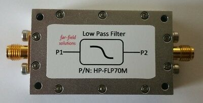 RF Low Pass Filter Fc 70MHz VHF 100W CW Power