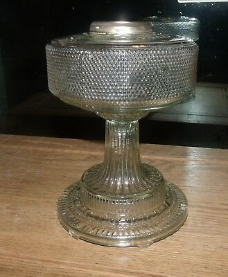 1933 aladdin model b clear colonial oil lamp nickle collar 1933 aladdin model b clear colonial oil lamp nickle collar aloadofball Image collections