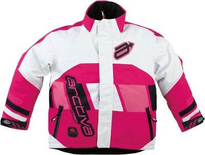 6f83ada372cf8 ARCTIVA Snow Snowmobile Kids 2017 COMP Insulated Jacket (Pink/White) 16  (Youth
