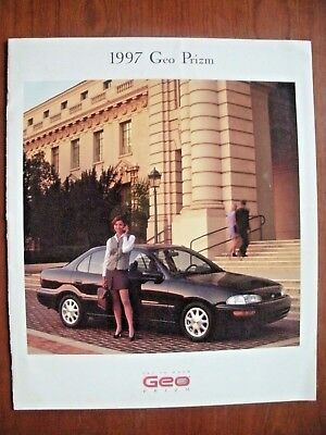 1997 Geo Prizm New Car Brochure-22 Pgs-Excellent Cond. With Great Photos & Specs