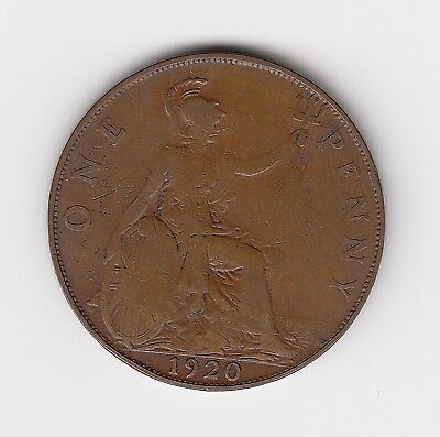 1920 Uk - George V Penny - Very Nice Collectable Coin