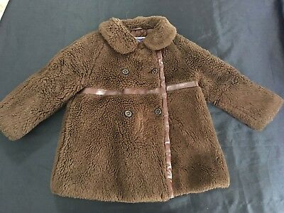 Chilprufe Vintage Childs Coat Jacket Size 3 Borg Fabric