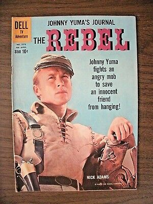The Rebel Johnny Yuma's Journal #1076 Feb/apr'60-Dell Comics-Based On Tv Show!