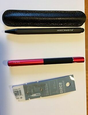 Adonit Jot Pro Stylus Rot plus 2 Disks und Just mobile