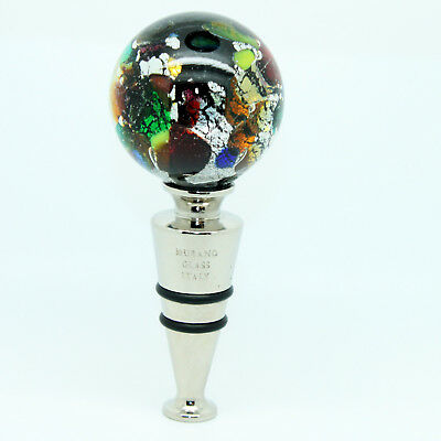 Multi Coloured Handmade Authentic High Quality Wine Bottle Stopper from Venice
