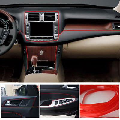 5m Point Light Red Molding Garnish Car Interior Accessory Edge Gap Line Decor