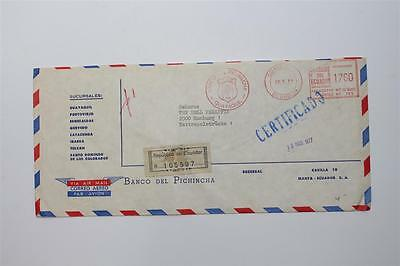 alter Briefumschlag Ecuador Bank AFS 1977  #B763