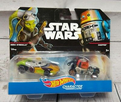 Hot Wheels Star Wars Rebels Hera Syndulla Chopper 2 Pack Character Cars