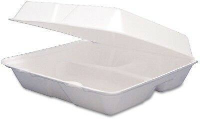 Restaurant take out containers Foam Hinged 3 Compartment Togo Boxes