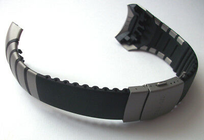NEW Replacement Black & Gray Wrist Band Strap For Polar AXN700 Watch, Wristband