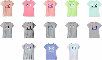 Under Armour Girls' Solid Big Logo Short Sleeve T-Shirt, 13 Colors