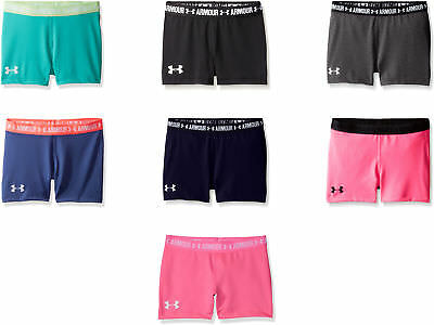 "617b80c9 UNDER ARMOUR GIRLS' HeatGear Printed 5"" Shorty, 3 Colors - $23.59 ..."