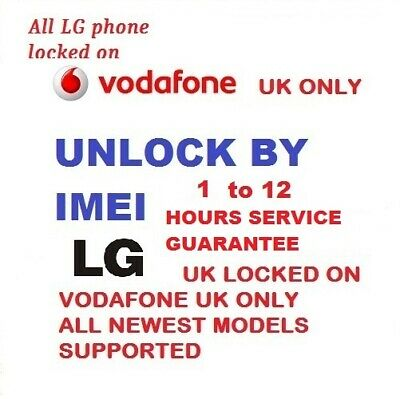 Unlock Code For LG G5 H850 LG K4 LG K8 K350N K350 K520 Vodafone UK only