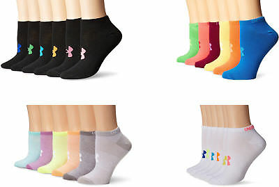 Under Armour Girls' Essential No-Show Liner Socks, 6 Pairs, Assorted Colors