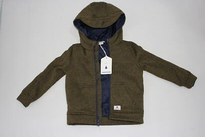 Bnwt Country Road Baby Boys Winter Thick Knit Hoody Jumper Size 18-24M Rrp$69.95