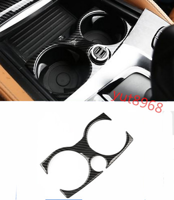 ABS Carbon Fiber Water Cup Box Holder Panel Sticker Trim For Infiniti Q50 14-18