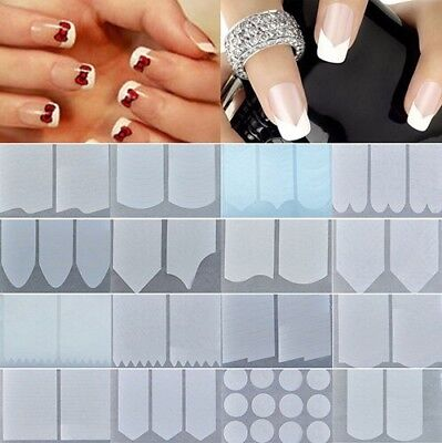 Guide Autocollant French Manucure Faux Ongles Nail Art -  beauté