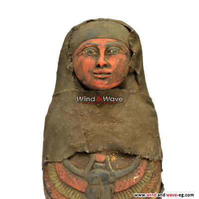 Rare  Ancient Egyptian Queen As Shabti Winged Scarab