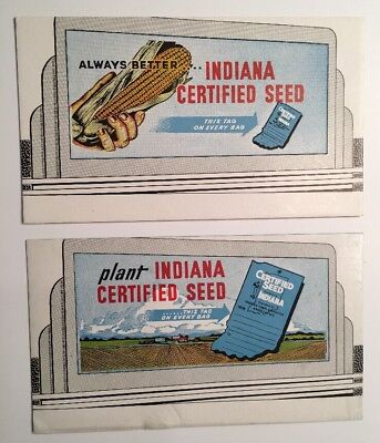 2 Diff Indiana Seed Corn Advertising Blotter Mini Sign