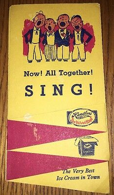 Hendlers Velvet Kind Ice Cream Patriotic Brochure Song Book Baltimore MD