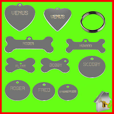 Personalised Pet Tags -High Quality Engraving ID for Dog Tags & Cat Tags Nickel
