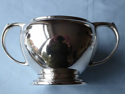 Sterling Silver Art Deco Twin Handled Sugar Bowl Mappin & Webb Sheffield 1938