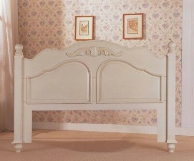 French Style Hand Carved Double Bed Headboard