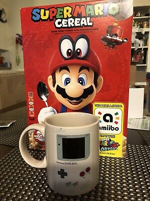 Super Mario Odyssey Cereal Limited Edition Nintendo Amiibo Ready To Ship! Look!!