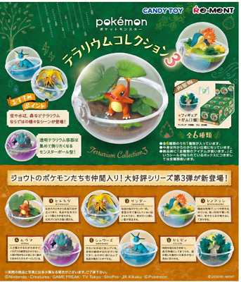 Pokemon Terrarium Collection 3 All 6 species from Japan Re-Ment 6sets SALE
