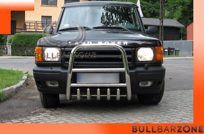 Land Rover Discovery 2 1998-2004 Pare-Buffle Haut Avec Grille De Protection Inox