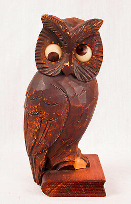 Oswald owl clock with rotating eyes @ 1950s Original Unique