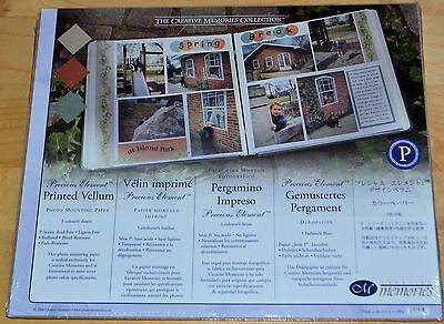 Creative Memories Printed Vellum 10x12 Paper3/Colors/6 Sheets~Gold~Patina~Copper