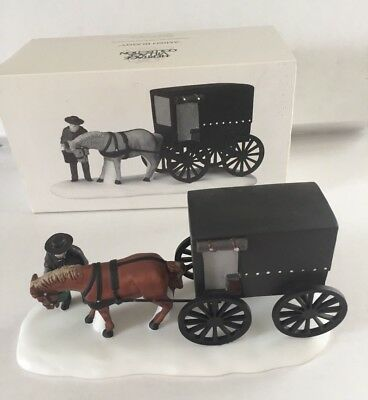 DEPT 56 New England Village *AMISH BUGGY* With Horse - Retired 1989 #5949-8