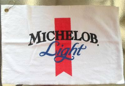 Official Michelob Ultra Beer Golf Towel 24x16 White with Clip Hook NEW