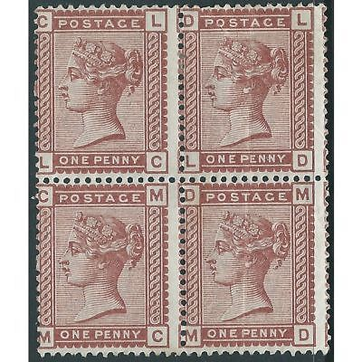 Great Britain - Victoria - SG166 - 1d - MH - Block of 4 - Wmk IC