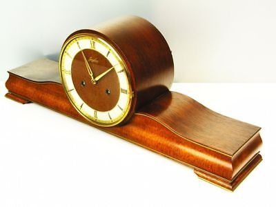 Beautiful Later Art Deco Design Chiming Mantel Clock From Junghans From 50 ´s