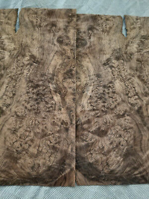"Walnut Burl - 2 ULTIMATE Sequenced Veneer Sheets 8.5"" x 11.5"" inches - No Backer"