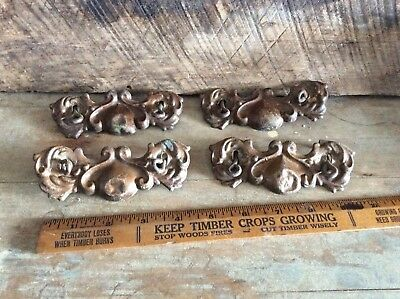 Salvaged  Pull, Ornate Pull Brass ? Antique Shabby Shic