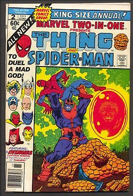 Marvel Two-In-One Annual #2 (1977)~Thanos Saga ends~ Jim Starlin~FN-
