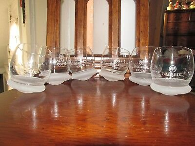 Bacardi Coco Wobble Bottom Cocktail Glasses - Set Of 6 New