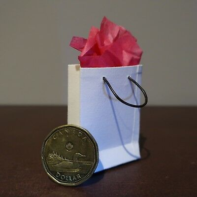 Miniature Gift Presentation Bag: 100% cotton fiber and leather cord