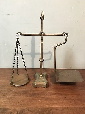 Antique Canada Post Office Scale Brass & Cast Iron