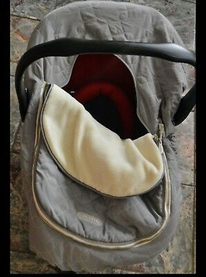 Baby stroller/car seat system with car base and car seat cover