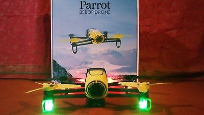 NEU ! Parrot BEBOP 14 MP HD WIFI GPS Drone + N8 -SET LED & 2 x 2,4 GHZ -Antennen
