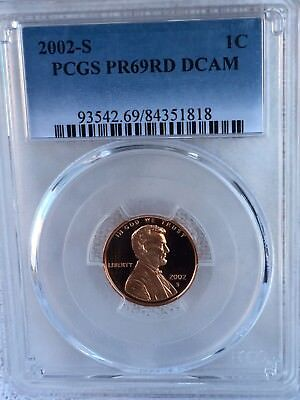 2002-S Lincoln  Proof PCGS PR69RD DCAM  Shipping $$ on First Coin Only
