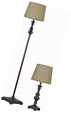 Park Madison Lighting Pmt 1815 20 Two Piece Table And Floor Lamp Set In