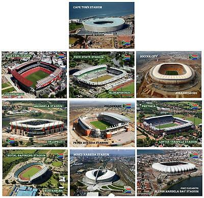 FIFA World Cup South Africa 2010 Football Stadiums New Postcards