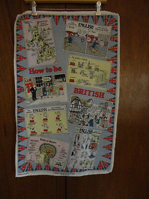 "The ""How to be British"" Tea-towel Tongue in Cheek Humor! (310)"